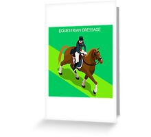 Equestrian Dressage 2016 Olympics Summer Games Greeting Card
