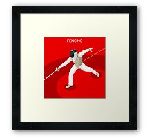 Fencing 2016 Olympics Summer Games Framed Print