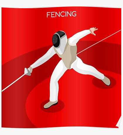 Fencing 2016 Olympics Summer Games Poster