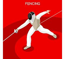Fencing 2016 Olympics Summer Games Photographic Print