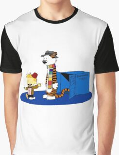 calvin and hobbes meets tardis box Graphic T-Shirt