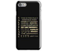 Salt Lake City Utah Famous Landmarks iPhone Case/Skin