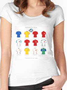 France EURO 2016 Apparel Icons Women's Fitted Scoop T-Shirt