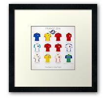 France EURO 2016 Apparel Icons Framed Print