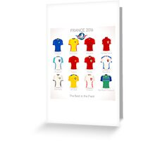 France EURO 2016 Apparel Icons Greeting Card