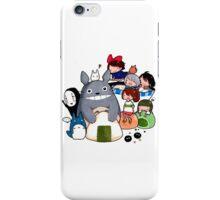 funny ghibli full colour iPhone Case/Skin
