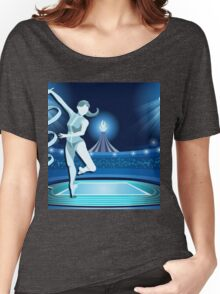 Gymnastics Background Olympics Summer Games 2016 Vector Illustration Women's Relaxed Fit T-Shirt