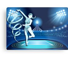 Gymnastics Background Olympics Summer Games 2016 Vector Illustration Metal Print