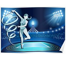 Gymnastics Background Olympics Summer Games 2016 Vector Illustration Poster