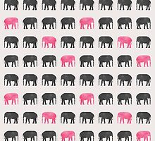 Elephant Walk by SuburbanBirdDesigns By Kanika Mathur