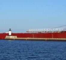 Ship on Lake Superior Sticker