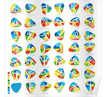Olympics Icon Pictograms Set  Poster