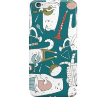Cats band in blue(s) iPhone Case/Skin