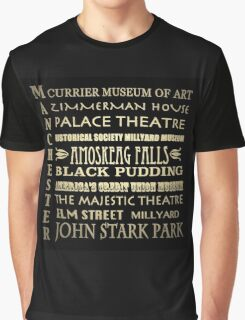 Manchester New Hampshire Famous Landmarks Graphic T-Shirt