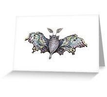 cute bat by remi42 Greeting Card