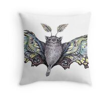 cute bat by remi42 Throw Pillow