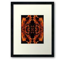 Bonfire Kaleidoscope Framed Print