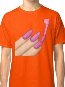 Nail Polish Emoji Classic T-Shirt