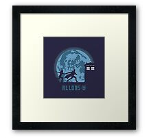 "Doctor Who ""Allons-y"" 10th Doctor Framed Print"