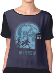 "Doctor Who ""Allons-y"" 10th Doctor Chiffon Top"