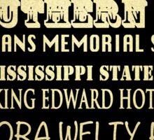 Jackson Mississippi Famous Landmarks Sticker