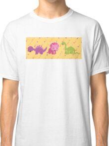 Dinamic Girls Collection - Girl Dinosaur Design Classic T-Shirt