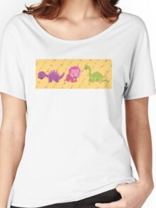 Dinamic Girls Collection - Girl Dinosaur Design Women's Relaxed Fit T-Shirt