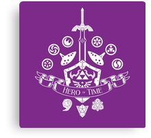 Hero of Time Coat of Arms Canvas Print