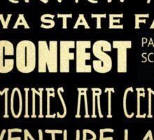 Des Moines Iowa Famous Landmarks Sticker