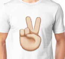 Victory Hand Emoji Unisex T-Shirt