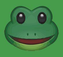 Frog Face Emoji Kids Tee