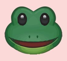 Frog Face Emoji One Piece - Short Sleeve