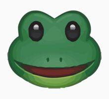 Frog Face Emoji One Piece - Long Sleeve