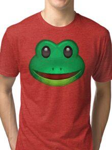 Frog Face Emoji Tri-blend T-Shirt
