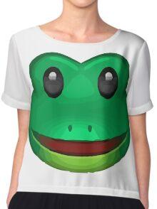 Frog Face Emoji Chiffon Top