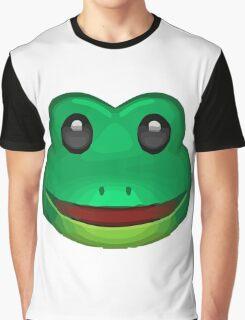 Frog Face Emoji Graphic T-Shirt