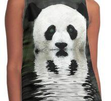 Panda Bear Contrast Tank