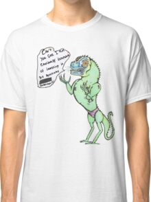 Emotionally Distressed Reptile Man. Classic T-Shirt