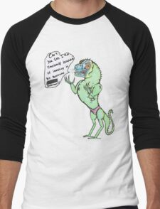 Emotionally Distressed Reptile Man. Men's Baseball ¾ T-Shirt