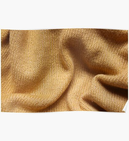 Yellow Knit Poster