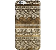 Lace fabric pattern with flowers and lace grunge vintage style background iPhone Case/Skin