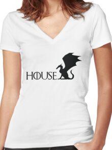 Game of Thrones - Targaryen Women's Fitted V-Neck T-Shirt