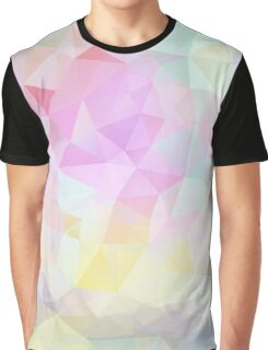 Abstract vector background of triangles, polygon wallpaper in pastel colors. Graphic T-Shirt