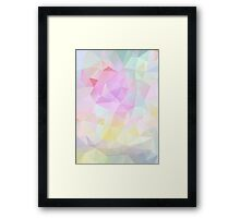 Abstract vector background of triangles, polygon wallpaper in pastel colors. Framed Print