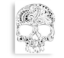 Tribal tattoo style gothic skull  Canvas Print