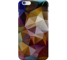 Abstract background of triangles, polygon wallpaper in retro bright colors. iPhone Case/Skin