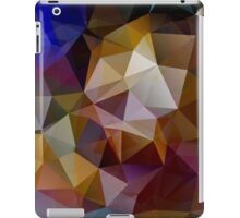 Abstract background of triangles, polygon wallpaper in retro bright colors. iPad Case/Skin