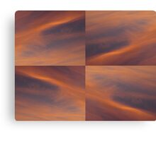 Sunset Sky Mosaic Canvas Print