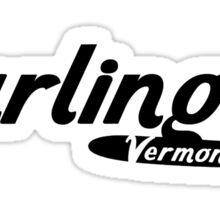 Burlington Vermont Vintage Logo Sticker