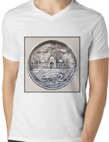 Two Rupees Pakistani Coin Mens V-Neck T-Shirt